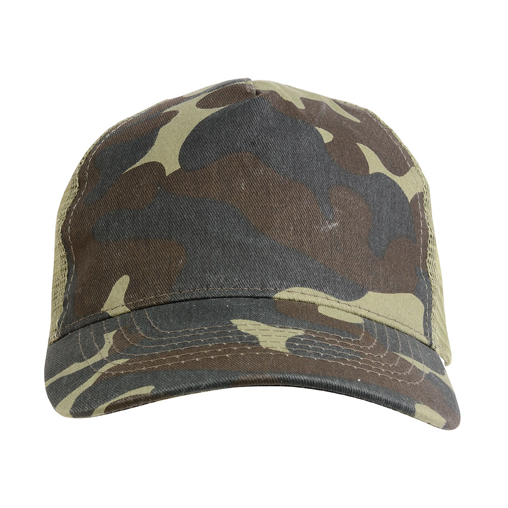 Sportpromo - 16307 Cappellino mimetico con calotta a rete (5 pannelli) 3152cdc5dcca